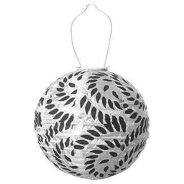 Black & White Soji Solar Lantern