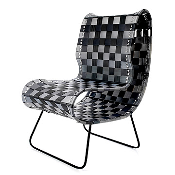 Reclaimed Seatbelt Chair