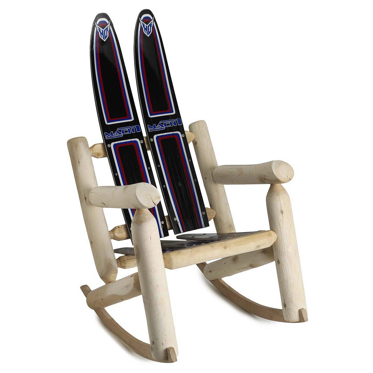 Water Ski Rocker Skis Lake Rocking Chair Cedar