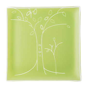 Personalized Tree Anniversary Plate