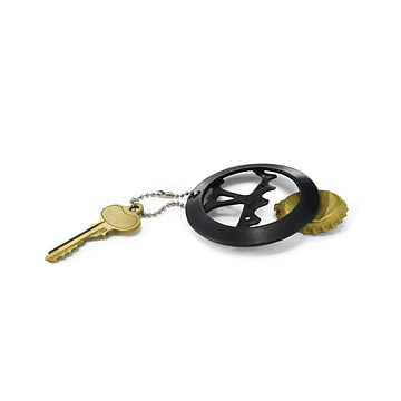 Bike Cog Bottle Opener Keychain