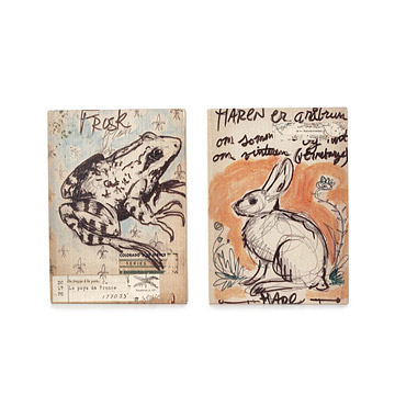 Norway Cabin Wall Art: Frog & Hare