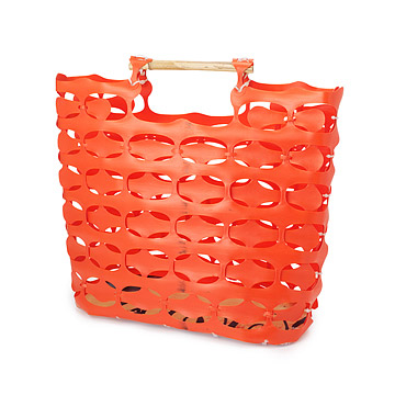 Recycled Construction Fence Tote