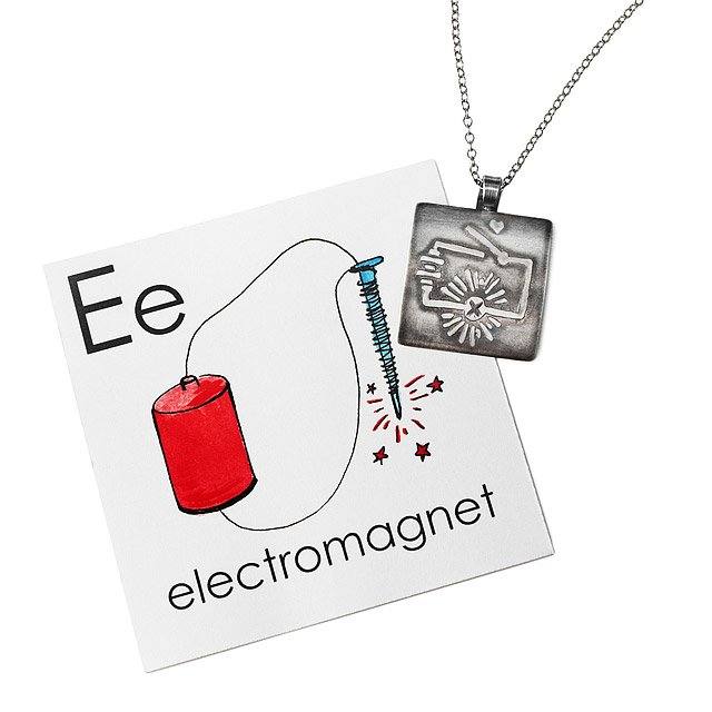 Electromagnet Pendant Necklace