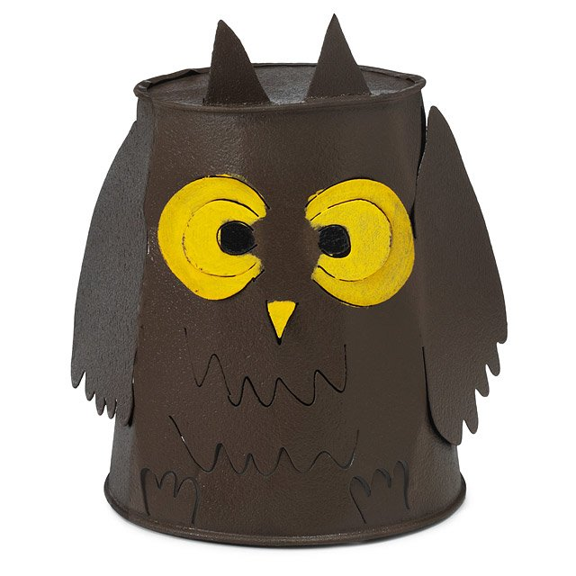 Reclaimed Tin Owl Lantern