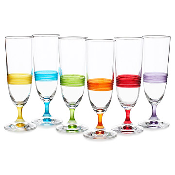 Day Champagne Glass Set - Set of 6