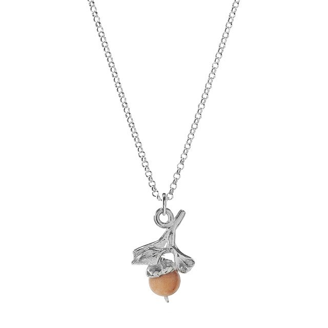 Farmer's Market Peach Necklace
