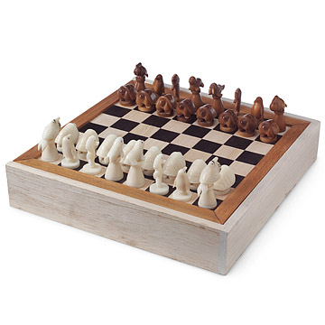 Aquatic Life Tagua Chess Set