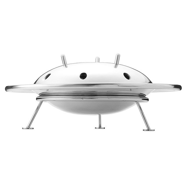 Silver Flying Saucer Bowl