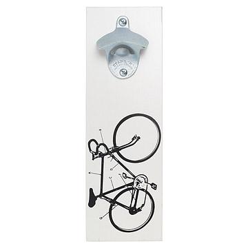 Wall Mounted Bicycle Bottle Opener