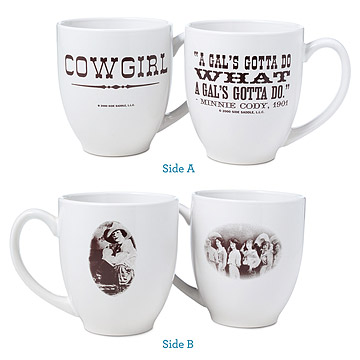 Cowgirl Mugs - Set of Two