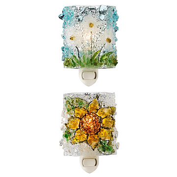 Recycled Glass Flower Nightlights