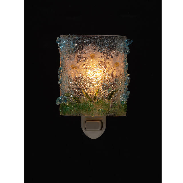 Recycled Glass Flower Night Lights 3