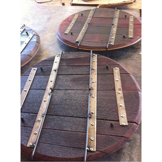 Wine Barrel Serving Tray 2