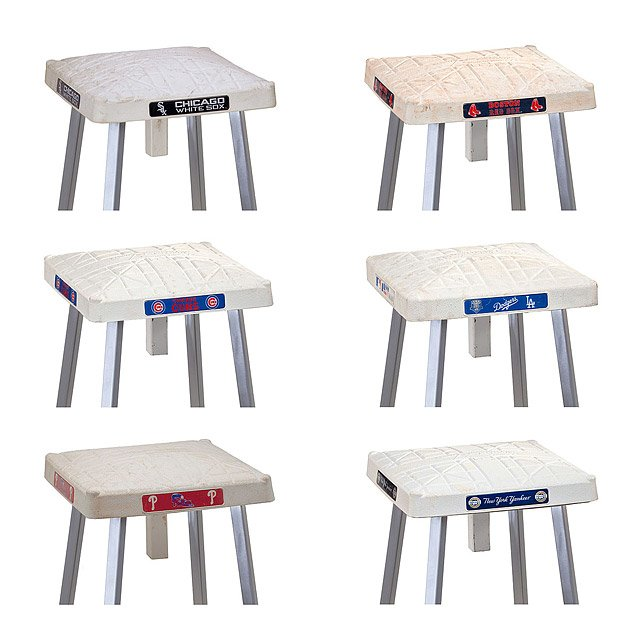 Game Used Base Stools 2