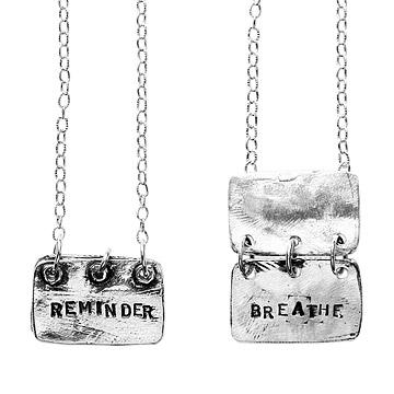 Reminder, Breathe Necklace