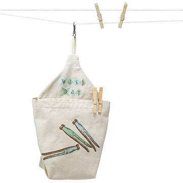 Wash Day Clothespin Bag