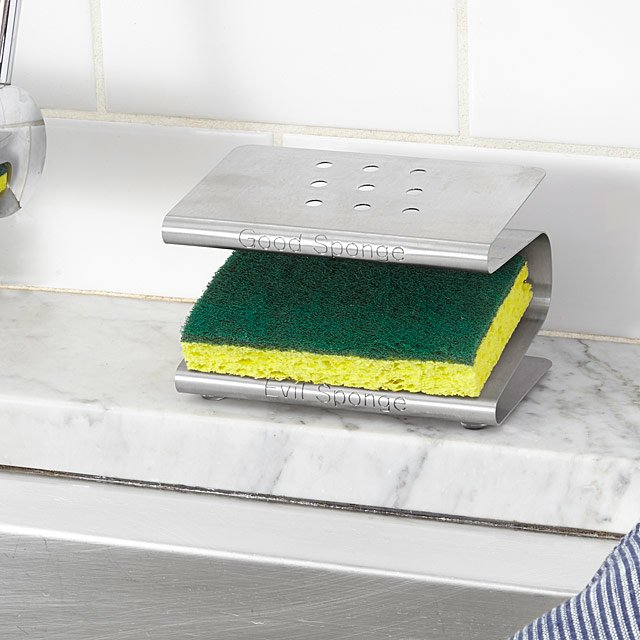 This is on my Wish List: Spongester | Kitchen Sponge Holder, Rack, Caddy | UncommonGoods