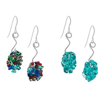 Vintage Glass Nugget Earrings