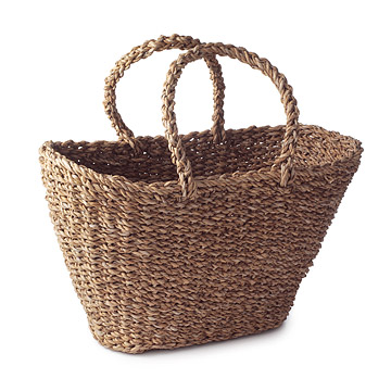 Holga Leaf Basket Tote