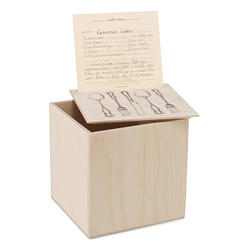 Recipe Box & Card Kit
