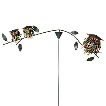 Spiky Owl Balancer Stake