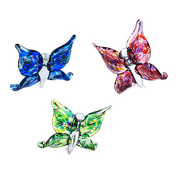 Recycled Glass Butterflies