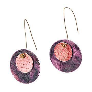Purple Cabbage Earrings