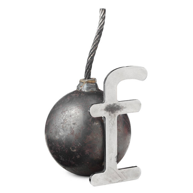 F Bomb Paperweight 2