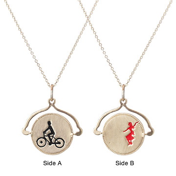 Bicycle Built for Two Spin-off Necklace