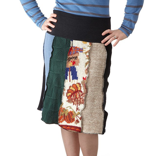 Recycled Sweater Skirt 3