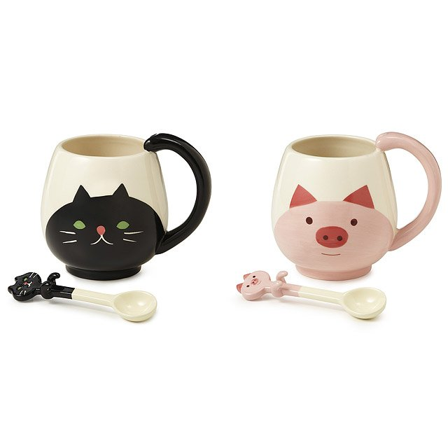 Animal Mug with Spoon