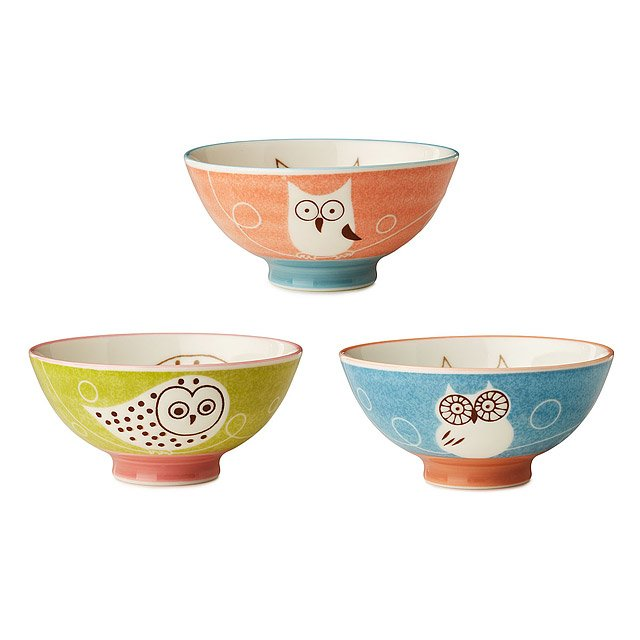 Owl Bowls - Set of 3 2