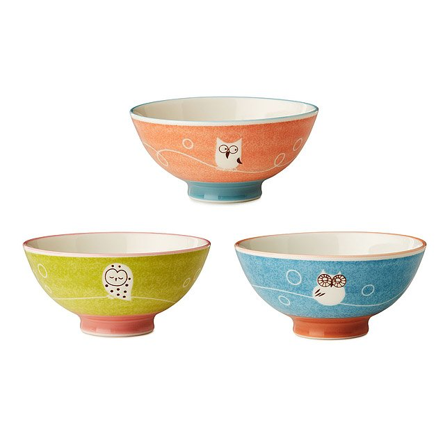 Owl Bowls - Set of 3 3