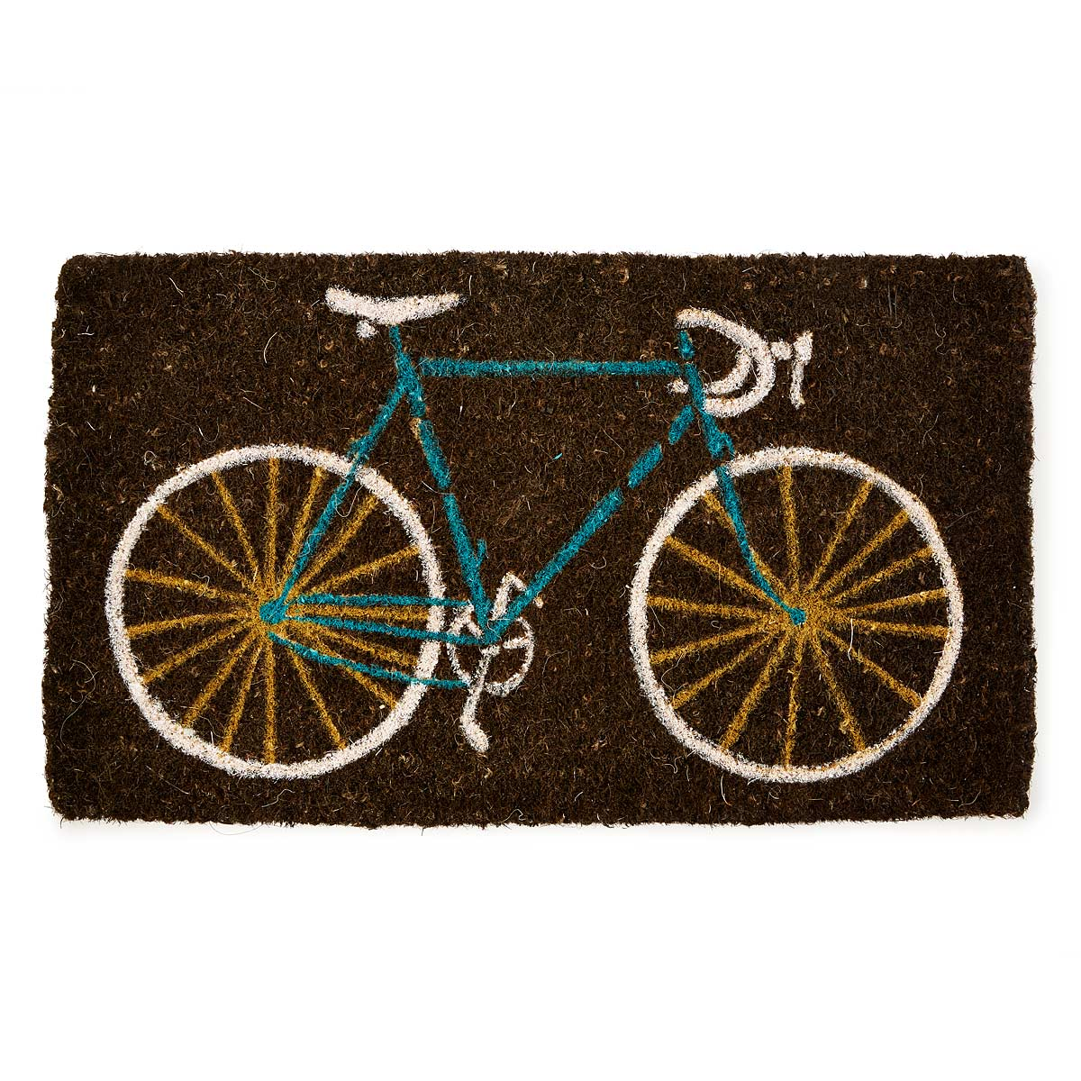 bike doormat bike doormat bicycle home decor coconut home decor lookbook uncommongoods