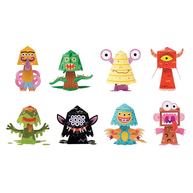 Monster Paper Bobble Heads 2