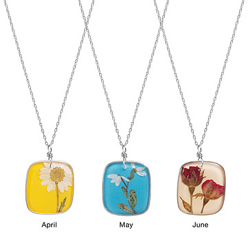 Birth Month Flower Necklaces