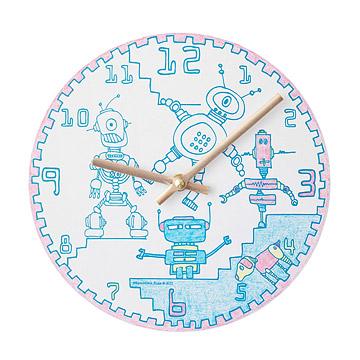 Robots Coloring Clock