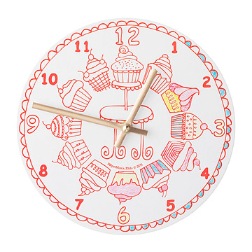 Cupcakes Coloring Clock