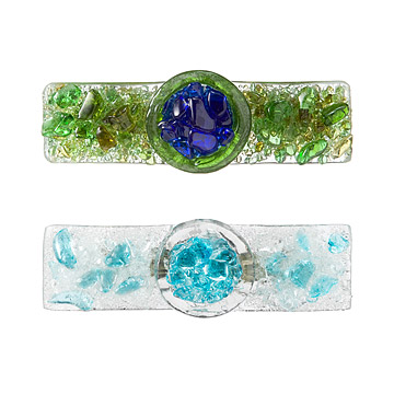 Recycled Glass Barrettes