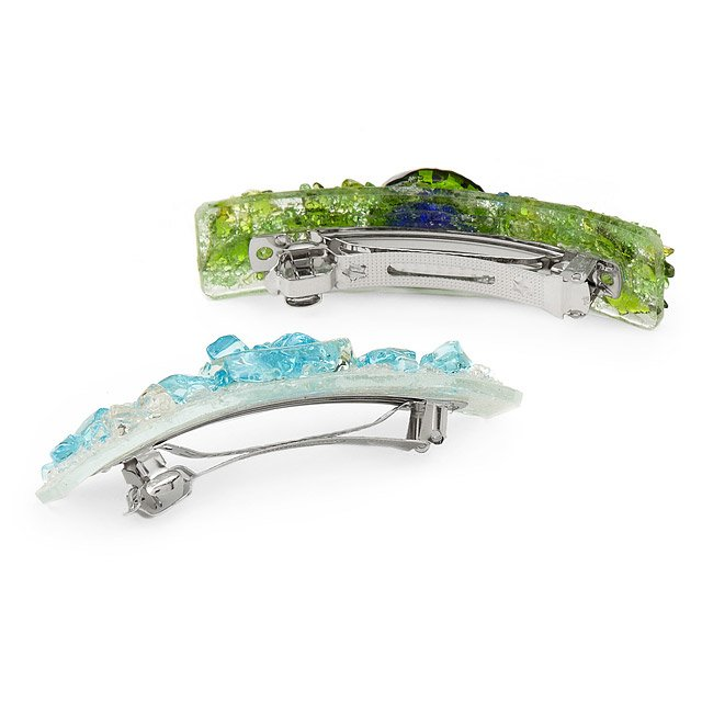 Recycled Glass Barrettes 2