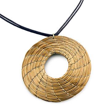 Golden Grass Round Necklace