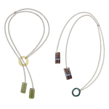 Recycled Glass Lariat Necklace