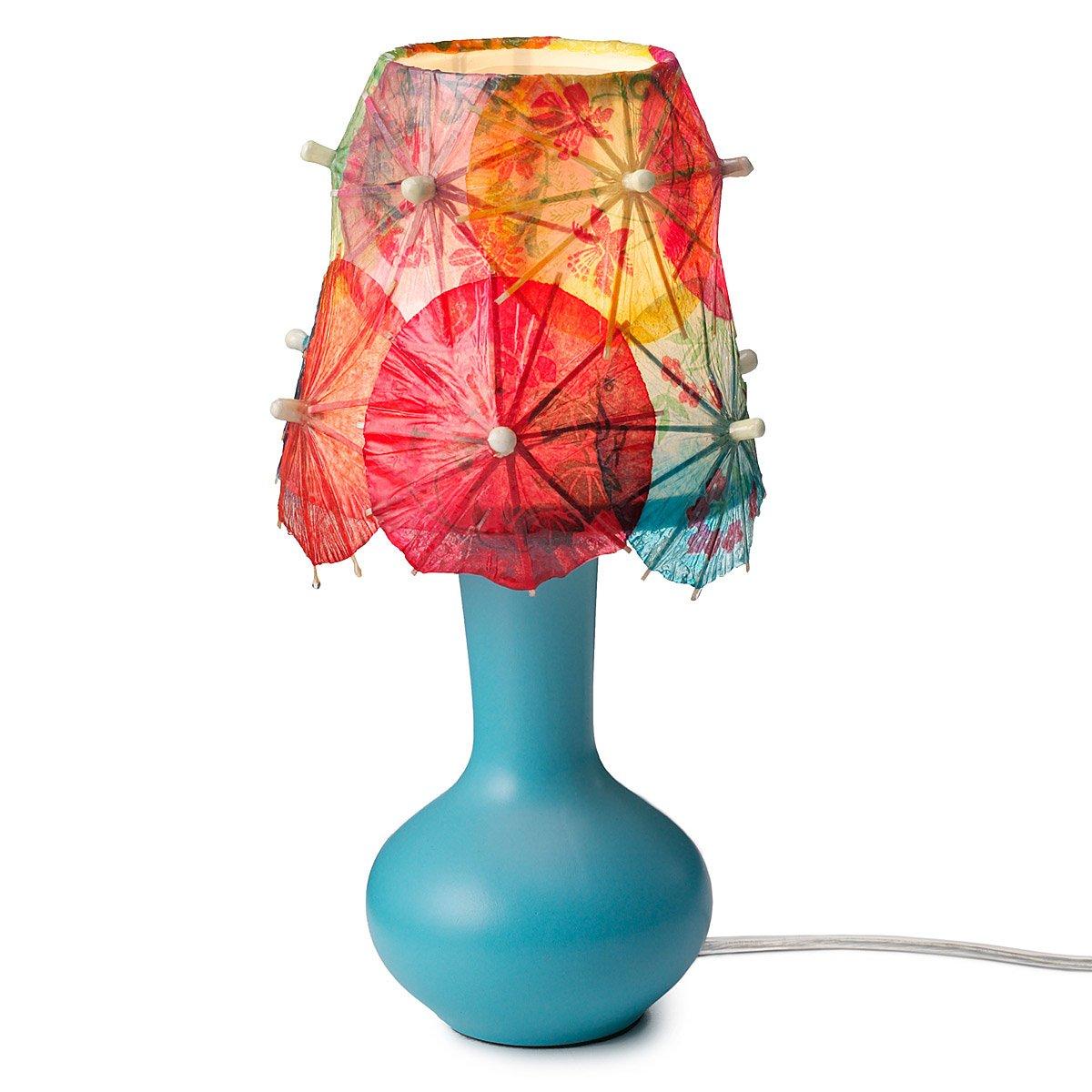 drink umbrella lamp table light tropical lighting tiki decor fun