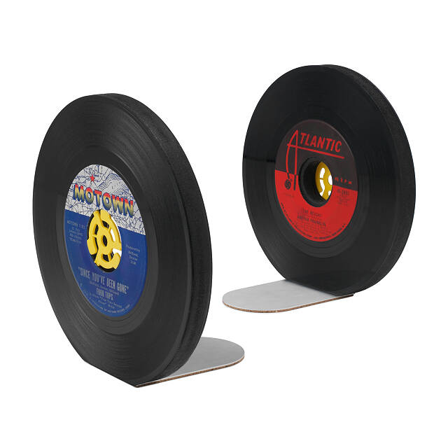 Recycled Record Bookends - Set of 2 2