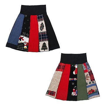Recycled Holiday Sweater Skirt