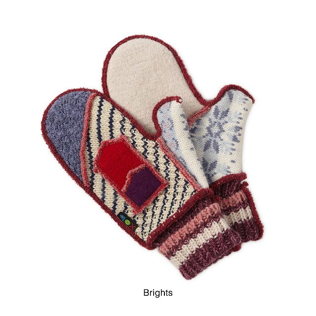 Upcycled Sweater Mittens 2