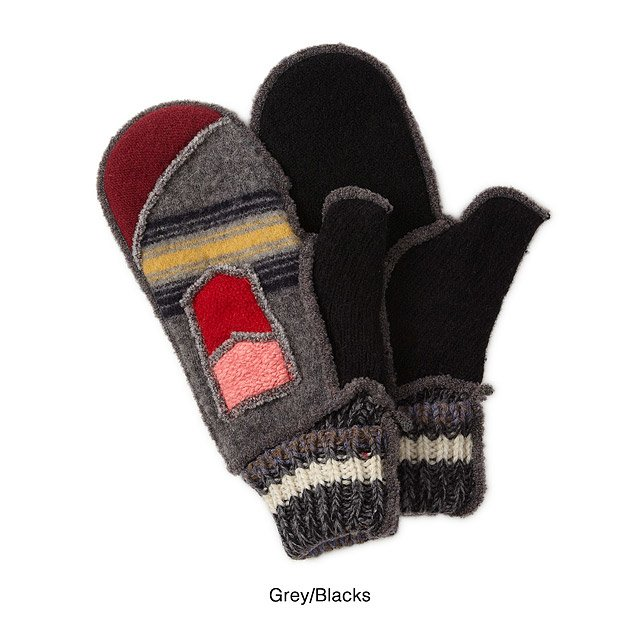 Upcycled Sweater Mittens 3