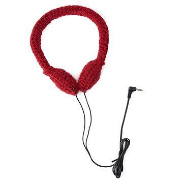 Crocheted Headphones - Cranberry