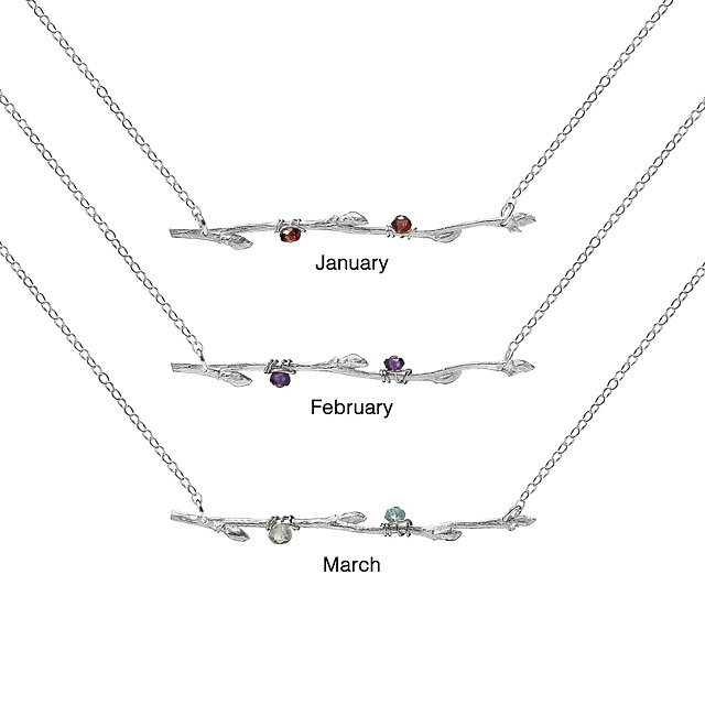 Birthstone Bud Necklace